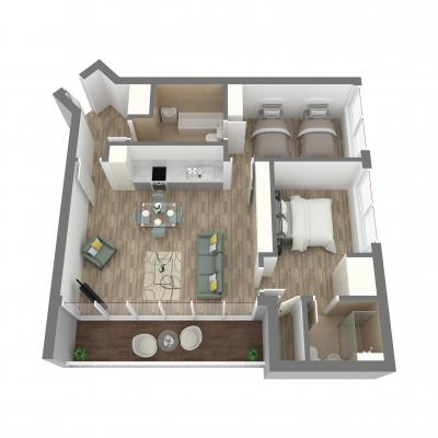New Era 2 bedroom layout D