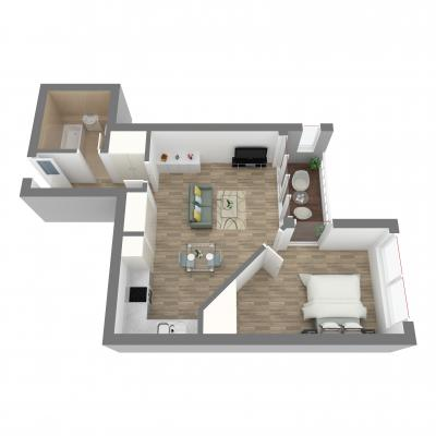 New era one bedroom layout A