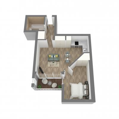 New Era one bedroom layout b