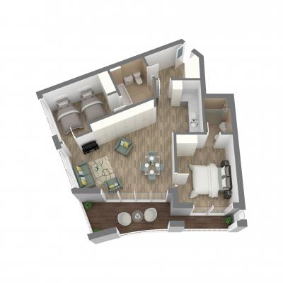 New Era 2 Bedroom Layout F
